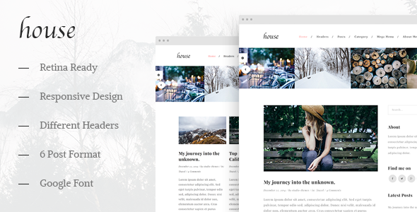 House – Personal Creative Blog Template