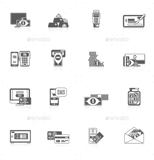 Payment Icon Set - Web Elements Vectors