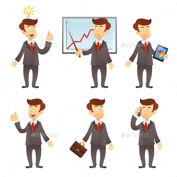Businessman Cartoon Characters - People Characters