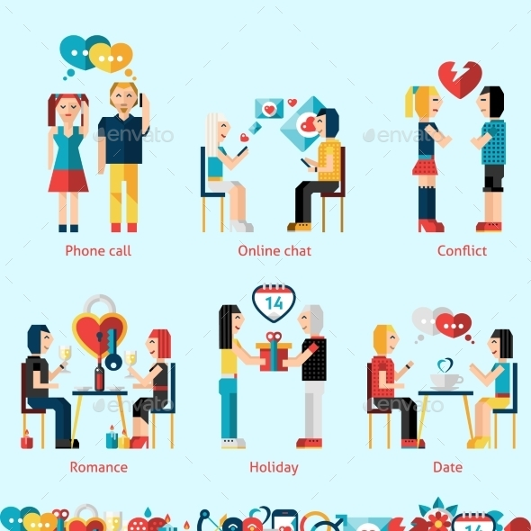 Relationship Concepts Set - People Characters