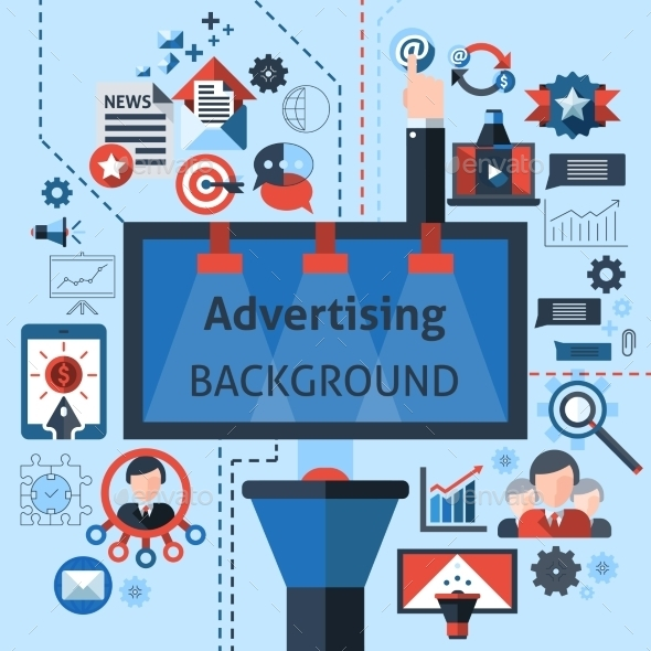 Advertising Marketing Background - Business Conceptual