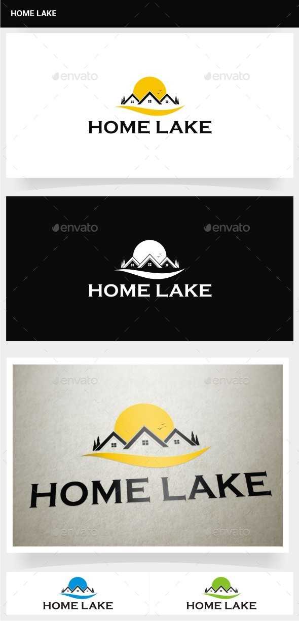 Home Lake - Buildings Logo Templates