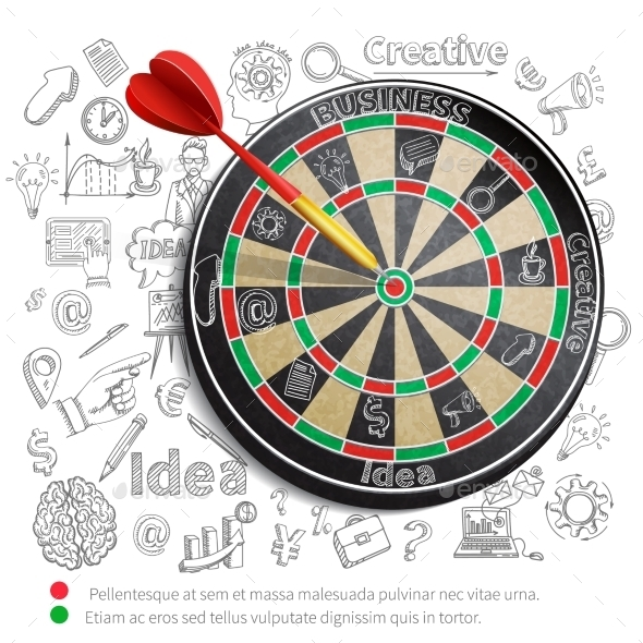 Creative Background with Dartboard - Concepts Business