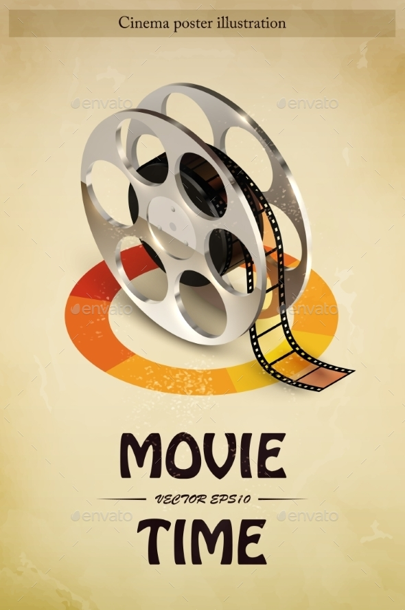 Cinema Poster Illustration - Objects Vectors