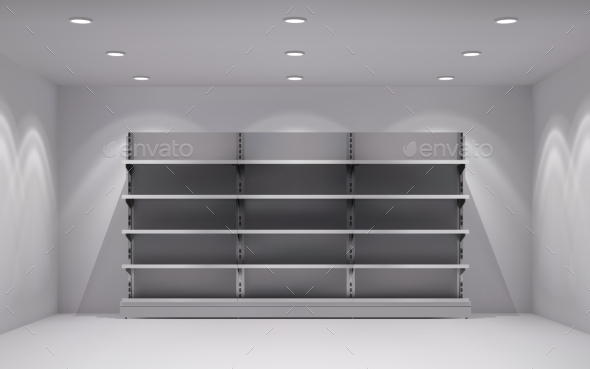 Store Interior Background - Backgrounds Decorative