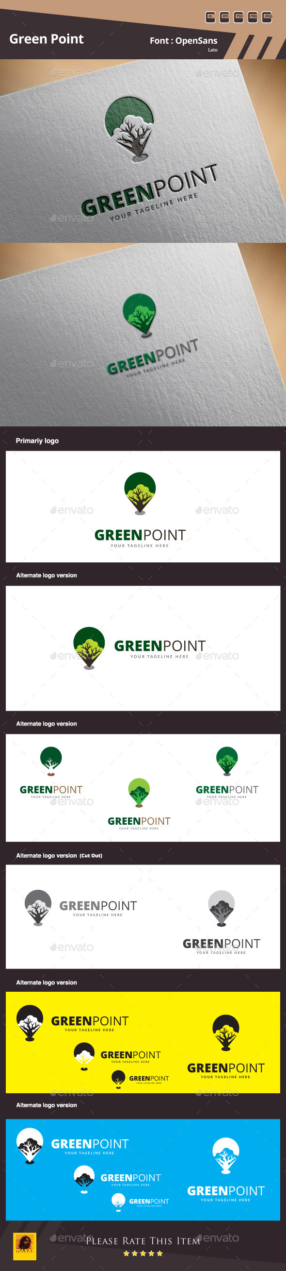 Green Point Logo Template - Symbols Logo Templates