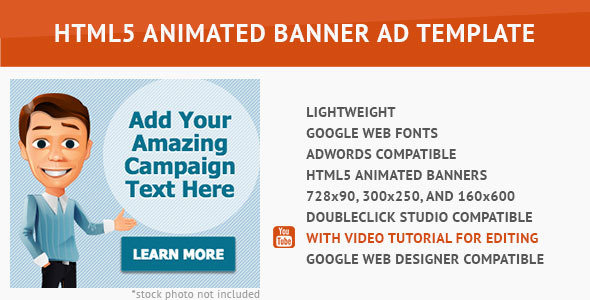 Cool Cartoon HTML5 Animated Banner - CodeCanyon Item for Sale