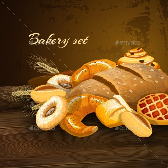Bakery Bread Poster - Food Objects