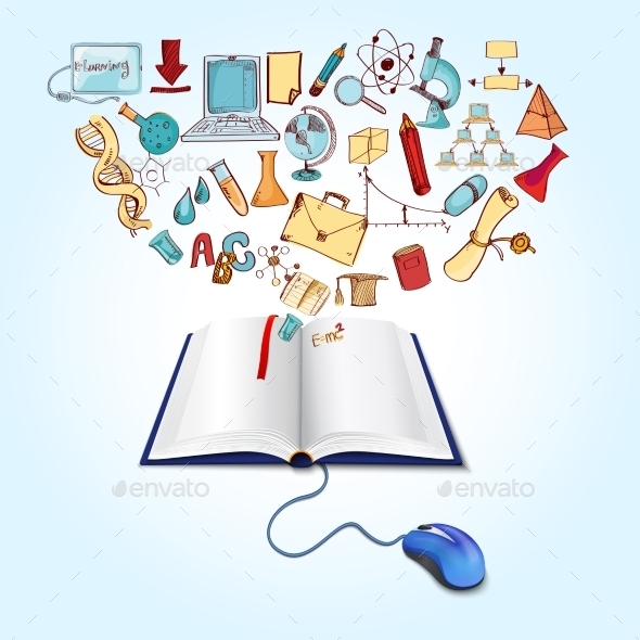 Online Education Concept - Technology Conceptual