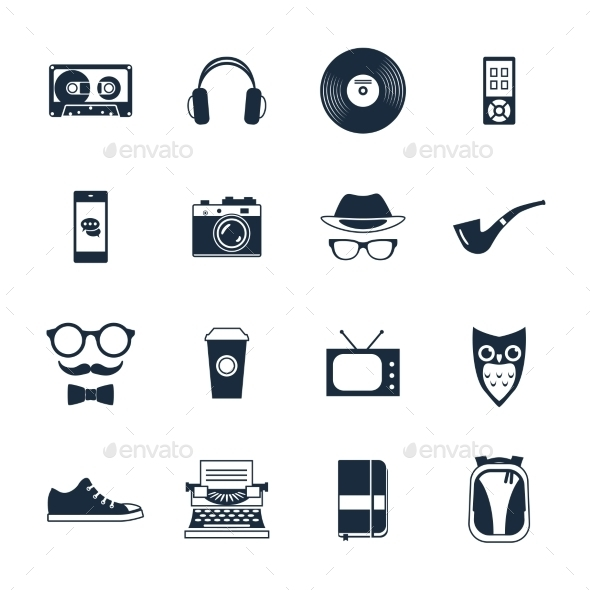 Hipster Icons Set - Miscellaneous Icons