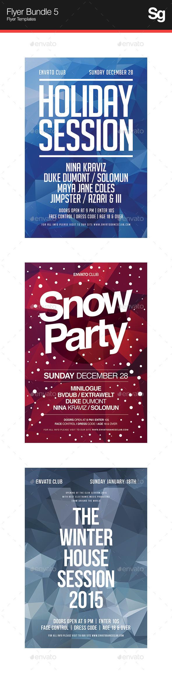 Flyer Bundle 5 - Clubs & Parties Events