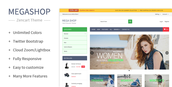 MegaShop – Zencart Theme