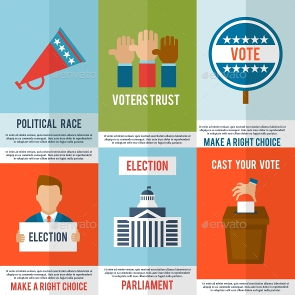 Election Poster Set - Backgrounds Decorative