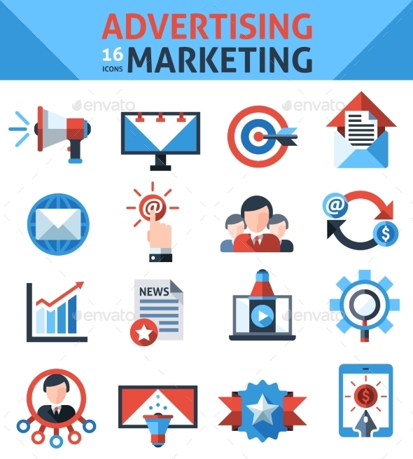 Advertising Marketing Icons - Business Conceptual