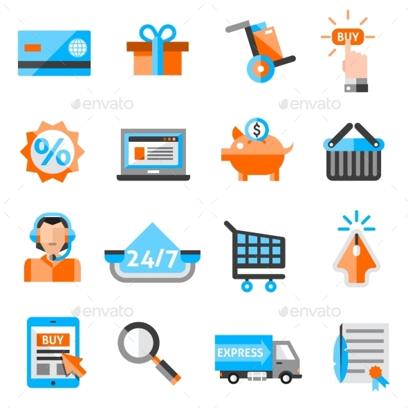 E-commerce Icons Set - Business Icons