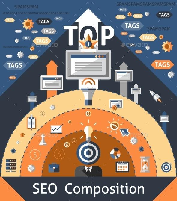 Seo Composition Illustration - Technology Conceptual