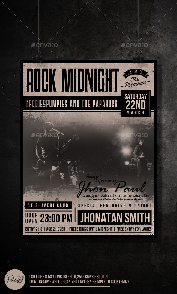 Rock Midnight Flyer - Concerts Events