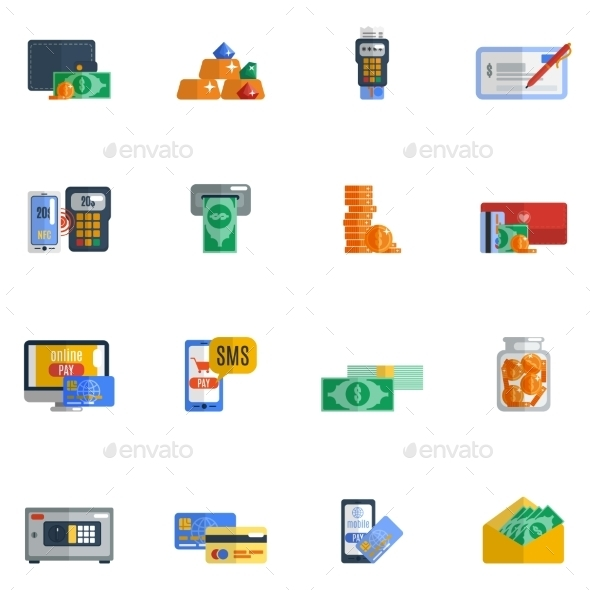 Payment Icon Flat - Business Icons
