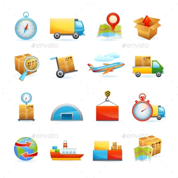 Logistic Icons Set - Web Technology