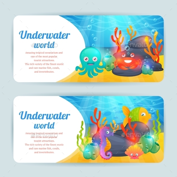 Underwater Sea Animals - Animals Characters
