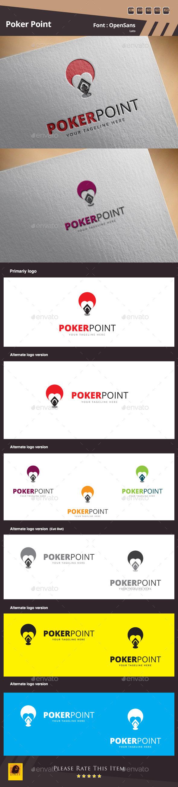 Poker Point Logo Template - Symbols Logo Templates