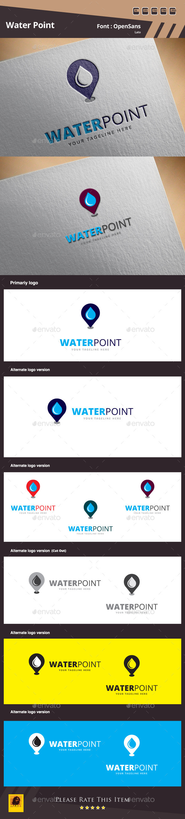 Water Point Logo Template - Symbols Logo Templates