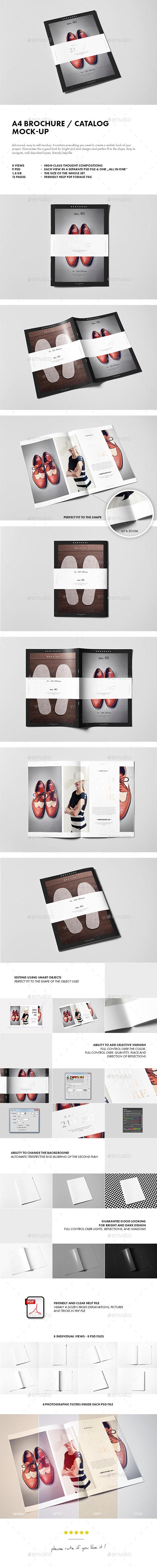 A4 Brochure / Catalog / Booklet Mock-up - Brochures Print