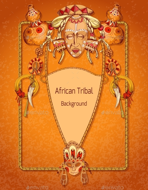 African Colored Background - Borders Decorative