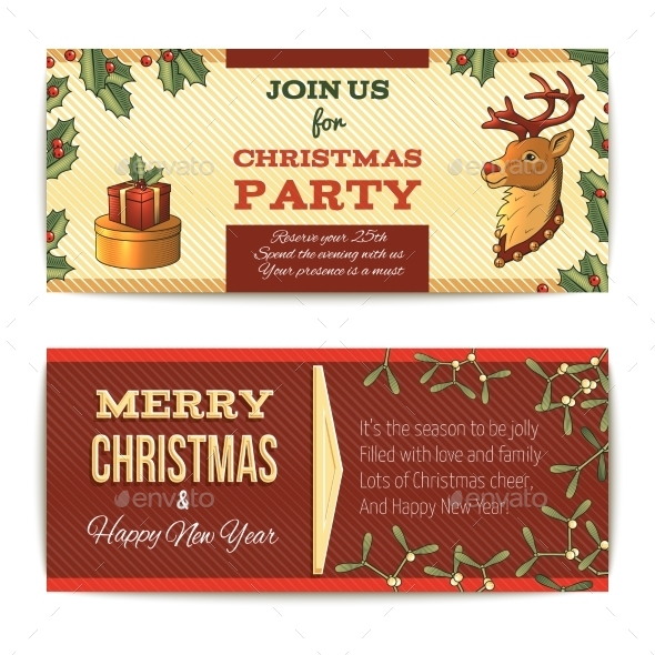 Christmas Banners Horizontal - Christmas Seasons/Holidays