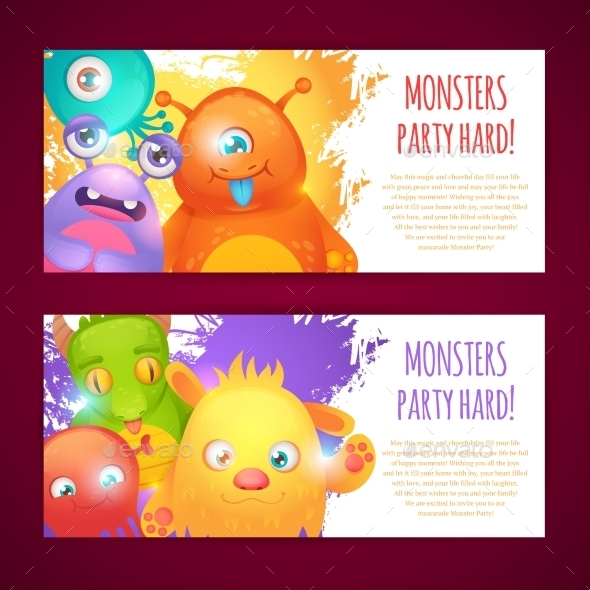 Monsters Horizontal Banners - Monsters Characters