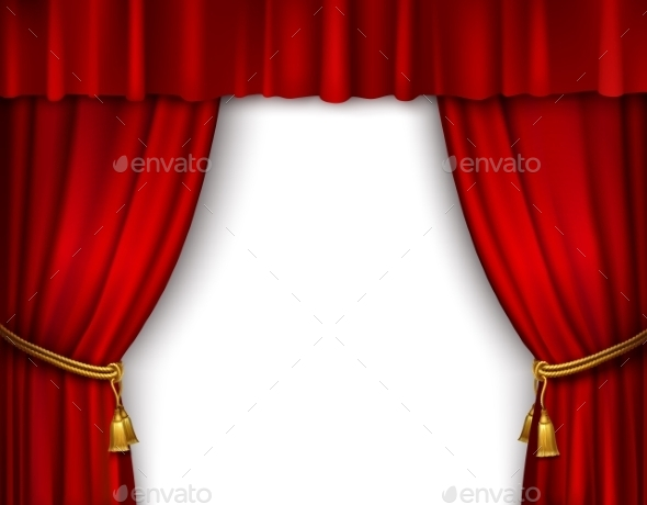 Stage Curtain Isolated - Backgrounds Decorative