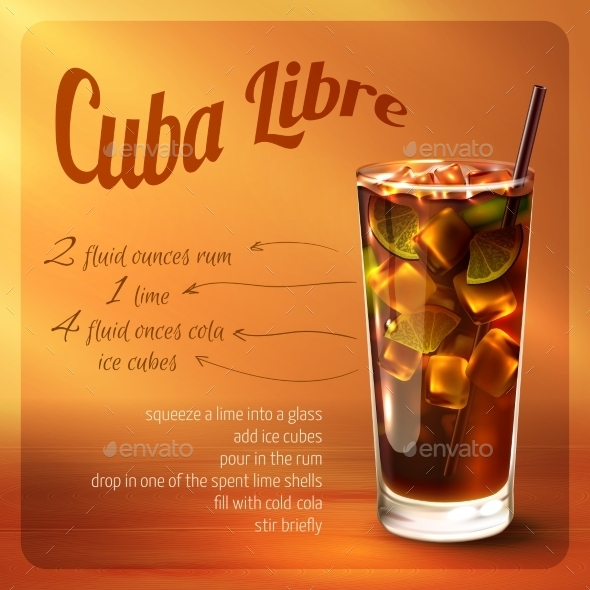 Cuba Libre Cocktail Recipe - Food Objects