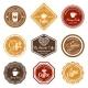 Coffee Retro Labels Set - GraphicRiver Item for Sale