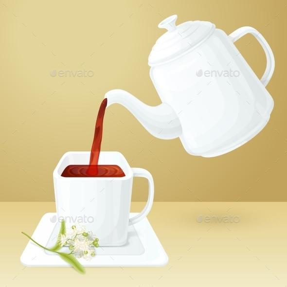 Tea Cup And Pot - Objects Vectors