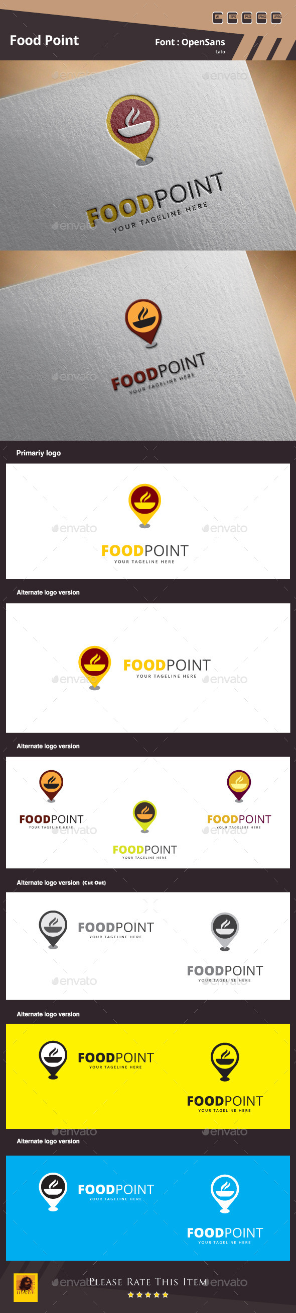 Food Point Logo Template - Symbols Logo Templates