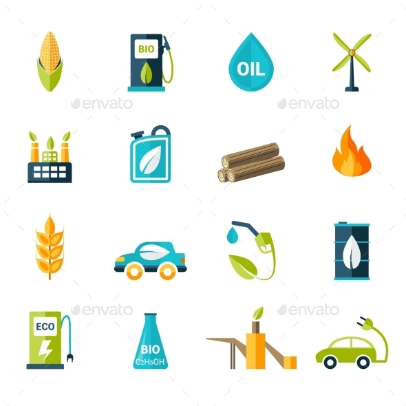 Bio Fuel Icons Set - Miscellaneous Icons