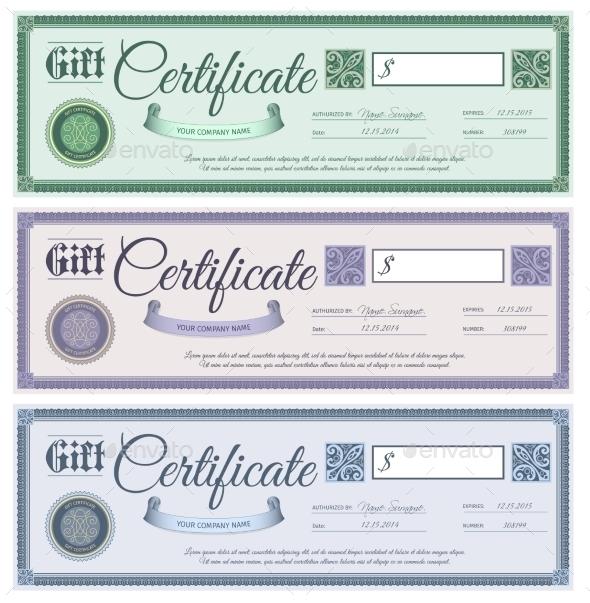 Gift Certificates Set - Miscellaneous Vectors