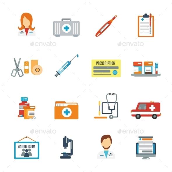 Doctor Icon Flat - Health/Medicine Conceptual