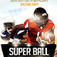 Super Ball Football Flyer Template - GraphicRiver Item for Sale
