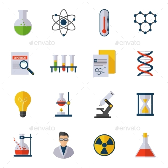 Chemistry Icon Flat - Miscellaneous Icons