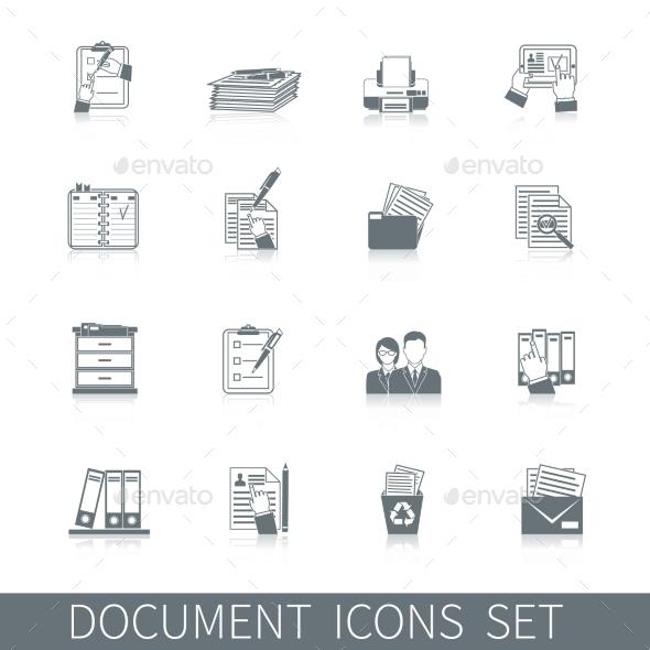 Document Icon Black - Business Conceptual