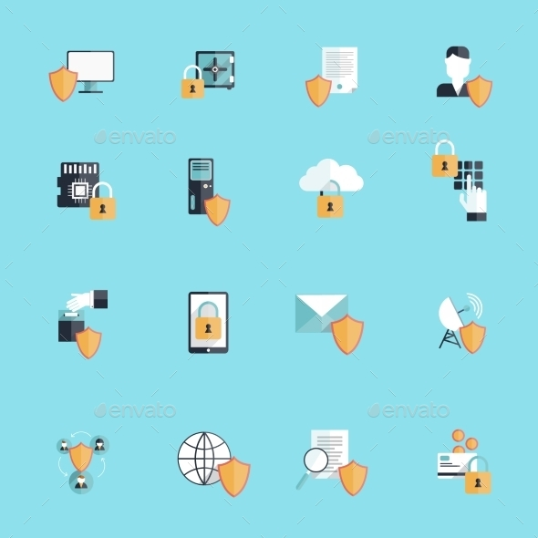 Information Security Icon Flat - Miscellaneous Icons