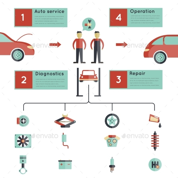 Auto Service Guideline - Miscellaneous Vectors