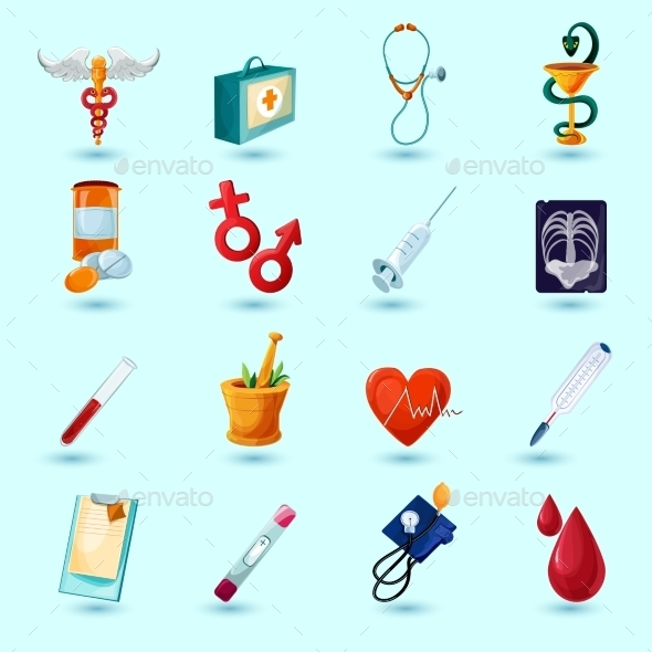 Medical Icon Set - Health/Medicine Conceptual