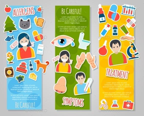 Allergies Banner Set - Health/Medicine Conceptual