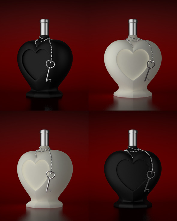 Heart Shaped Bottle - 3DOcean Item for Sale