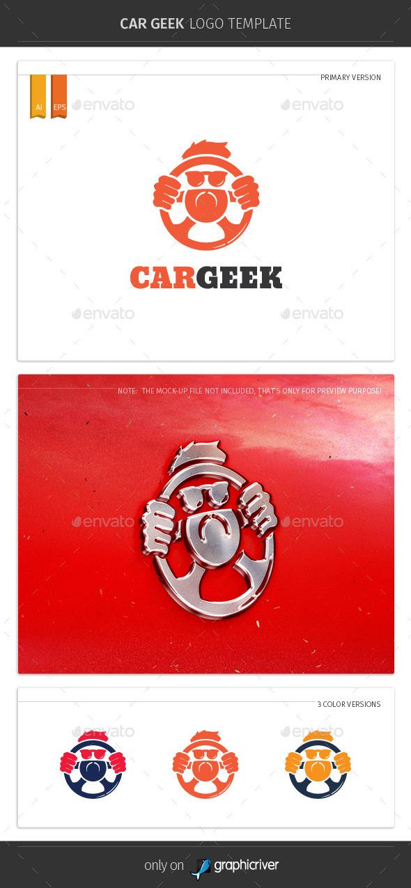 Car Geek Logo Template - Humans Logo Templates