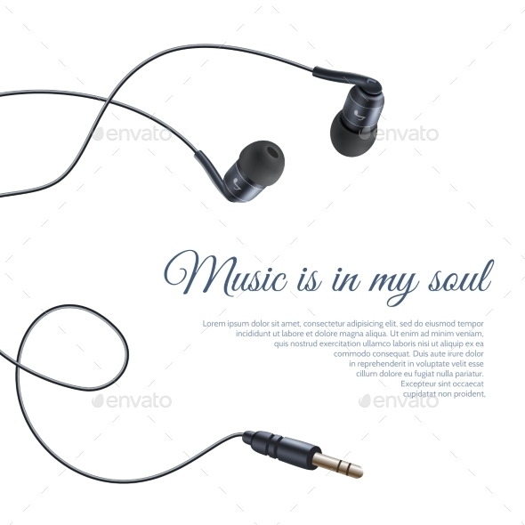 Headphones Poster - Technology Conceptual