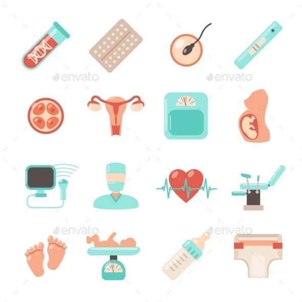 Pregnancy Newborn Icons - Icons