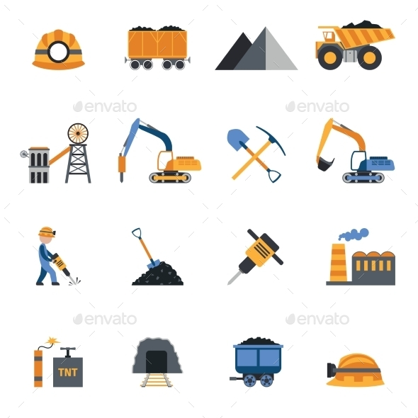 Coal Industry Icons - Industries Business